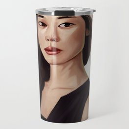 Woman Portrait Travel Mug