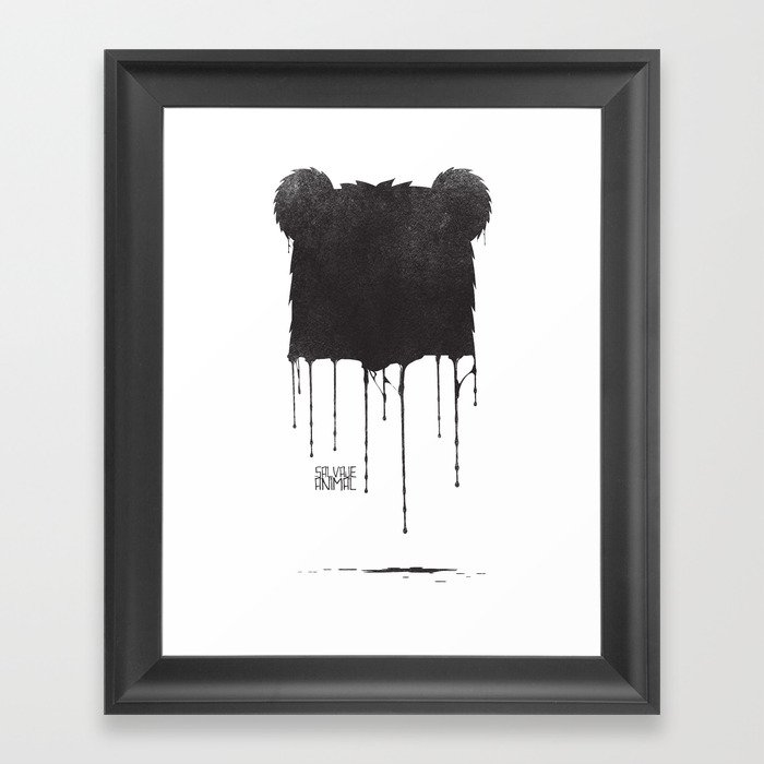 SALVAJEANIMAL Drops Framed Art Print