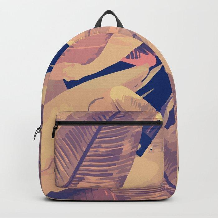 Banana Leaves Sepia Backpack