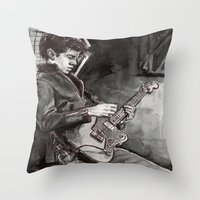 alex turner Throw Pillows featuring Alex Turner   by vooce & kat