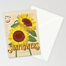 Sunflowers Seed Packet Stationery Cards