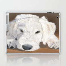 White Labradoodle Pup Laptop & iPad Skin