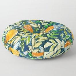 Blue Citrus Floor Pillow