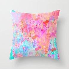 Floral Blush Throw Pillow
