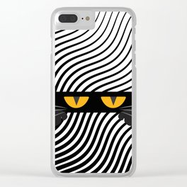 The Scaredy Cat Clear iPhone Case