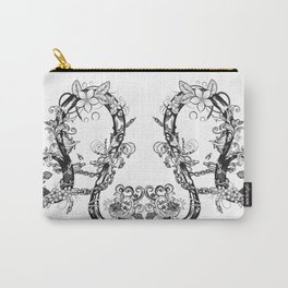 lion black and white zodiac sign Carry-All Pouch