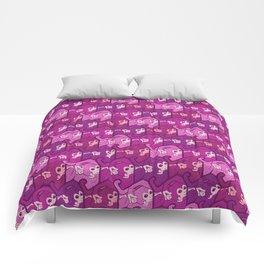 Purple monkeys Comforters