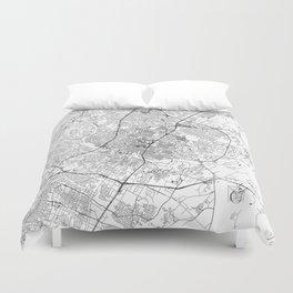 Austin White Map Duvet Cover