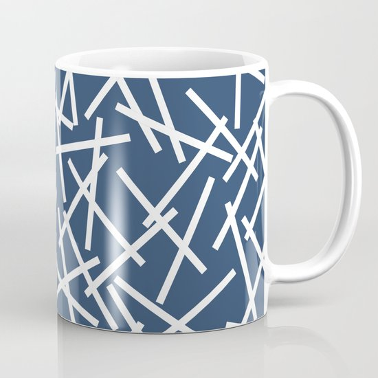 Kerplunk Navy and White Coffee Mug