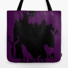 Potter clock and patronus group  Tote Bag