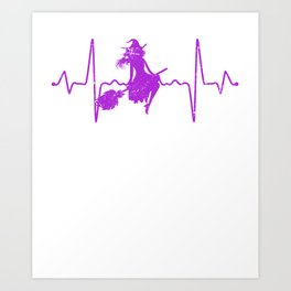 Heartbeat Witch Art Print