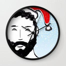 Beard Boy: Santa Baby Wall Clock