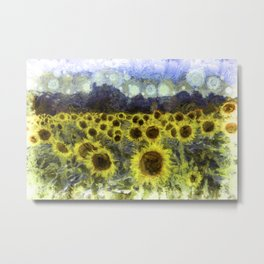 Sunflower Fields Of Dreams Art Metal Print