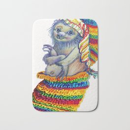Sloth in a Sock Bath Mat