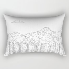 BigFoot Forest (Black and White) Rectangular Pillow