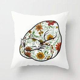 Pretty Kitty - no background Throw Pillow
