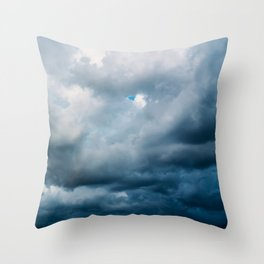Rain Storm Clouds Gathering On Sky, Stormy Sky, Infinity Throw Pillow