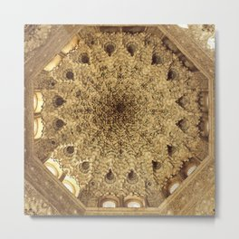 Roof. Sala de las dos Hermanas. The Alhambra Metal Print