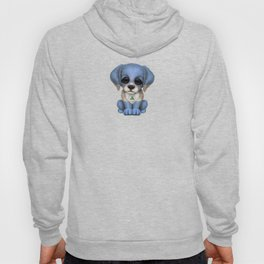 Cute Puppy Dog with flag of Nicaragua Hoody