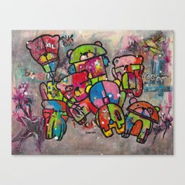 Robot bears Canvas Print