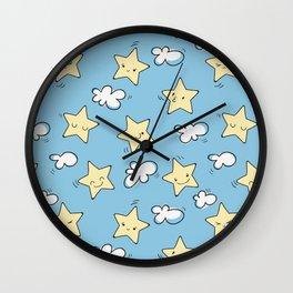 Lovely Star Pattern Wall Clock