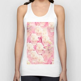 White and pink flowers in summer romance - vintage style Unisex Tank Top