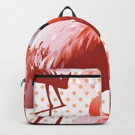Watercolor Flamingo Pattern 5 Backpack