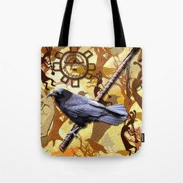 Kokopelli Raven - A Tribute to Music-lovers Tote Bag