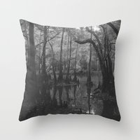 florida Throw Pillows featuring Florida Swamp by Kevin Russ