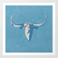 cow Art Prints featuring Cow by Saundra Myles