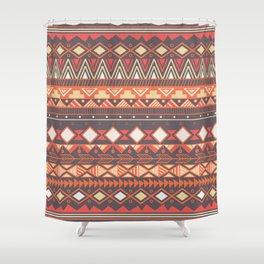 Aztec tribal pattern in stripes, vector illustration Shower Curtain