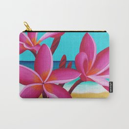 Ocean Flowers Vertical Carry-All Pouch