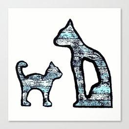 Cats blue Canvas Print