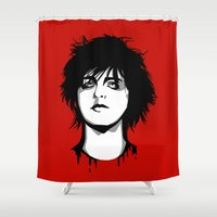 louis armstrong Shower Curtains featuring Billie Joe Armstrong by Laura Meg