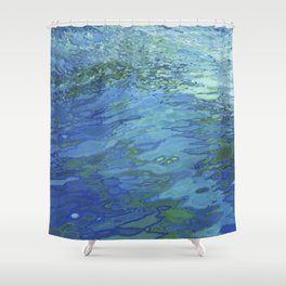 Effervescent Waves 1 Shower Curtain