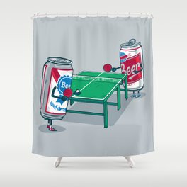 Beer Pong Shower Curtain