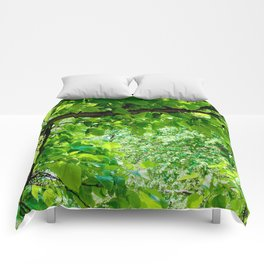 Peek into the Summer Trees Comforters