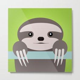 Sloth Baby Metal Print