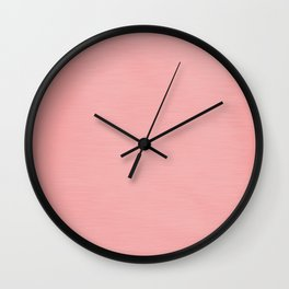 Blush Pink Streaky Hand Painted Watercolor Wall Clock