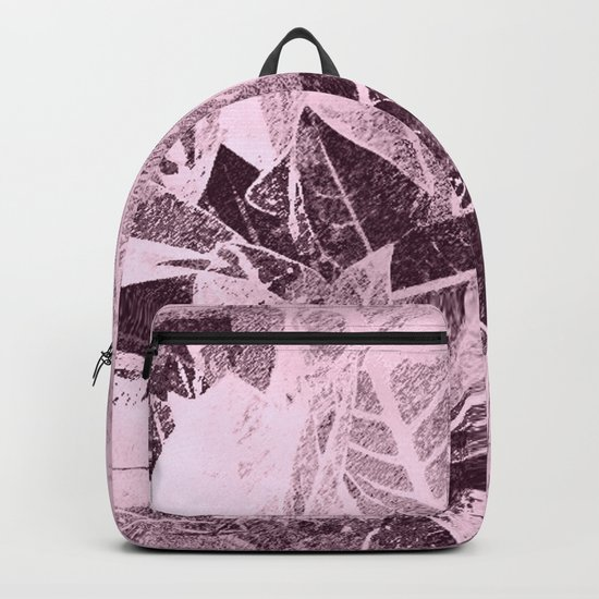 Foliage in Blush Pink Backpack