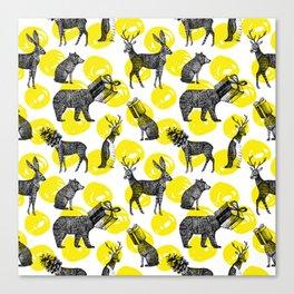 half animals pattern Canvas Print