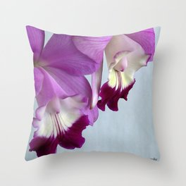 Laeliocattleya Orchid Throw Pillow