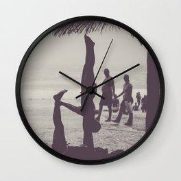 Yoga in Rio Wall Clock