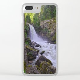 Summer Snow Melt - Waterfall & Forest Clear iPhone Case