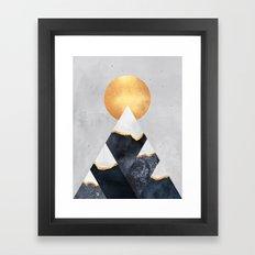 Winter Mountains Framed Art Print