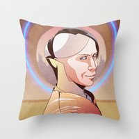 fifth element Throw Pillows featuring Chaos (Zorg - The Fifth Element) by Pana Stamos