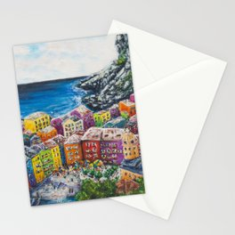 Cosy Cove from Cinque Terre, Italia Stationery Cards