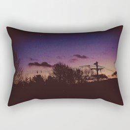 Urban Moonrise Rectangular Pillow