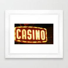 Casino One Framed Art Print