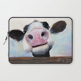 Nosey Cow ' HEY! HOW'S IT GOIN'? ' by Shirley MacArthur Laptop Sleeve